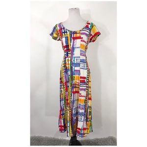 Jams World Short Sleeve Back Tie Maxi Dress M